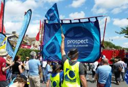 Prospect members at Tolpuddle festival